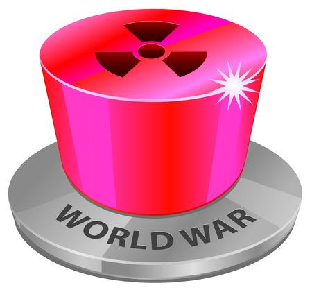 nuclear war: Nuclear world war button