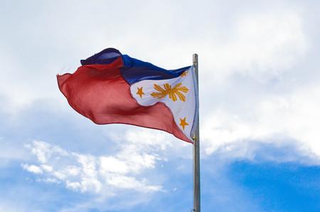 philippine: Waving Philippine flag photo