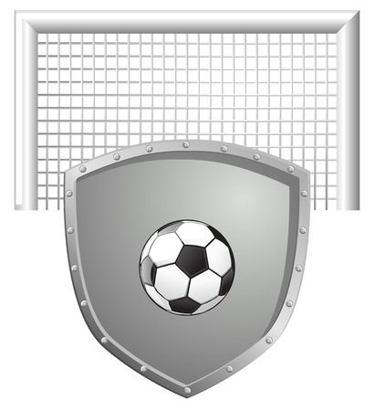 defense: Football soccer defense shield vector icon