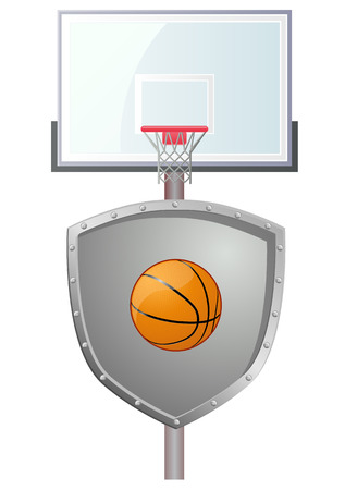 defense: Basketball defense shield vector icon