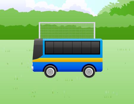 Park the bus soccer vector illustration Illustration
