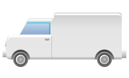 generic: Generic white van icon Illustration