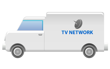 news van: TV Network van icon