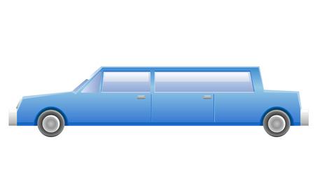 limousine: Blue limousine service vehicle icon