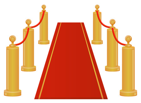Red carpet entrance icon