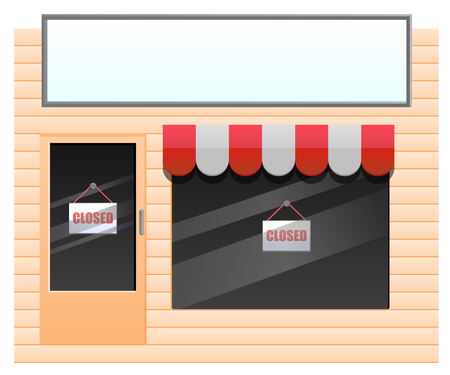 generic: Small generic store with closed sign icon