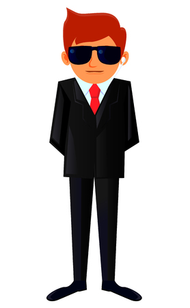 body guard: Body guard with earpiece on ear  icon