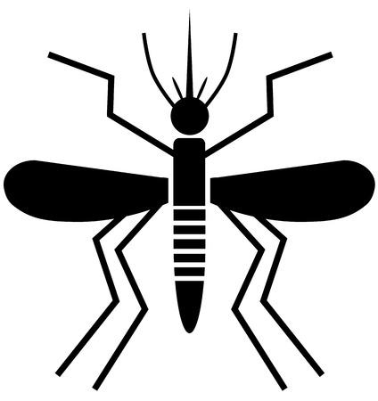Mosquito vector icon in black color Illustration
