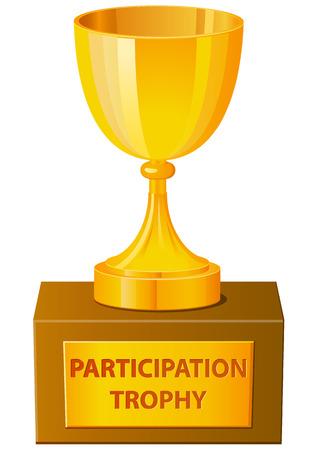 Participation trophy vector icon
