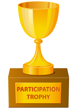 Participation trophy vector icon