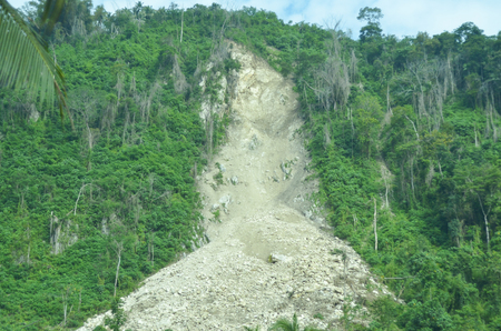 Avalanche of limestone mountain in the Philippines photo