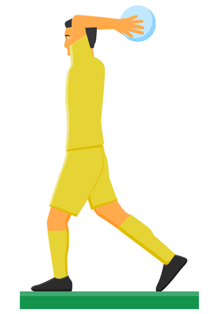 Soccer player doing a throw-in. Illustration
