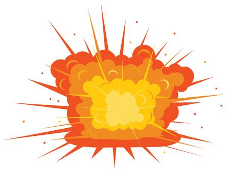 Ground explosion vector icon