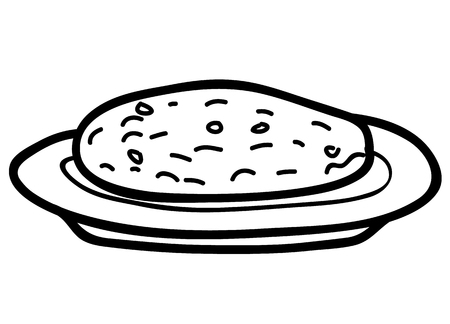 Cookies on plate sketch vector