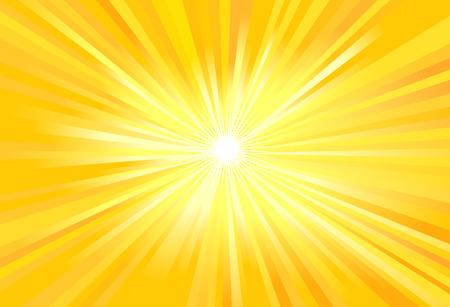 Illustration vectorielle des rayons du soleil