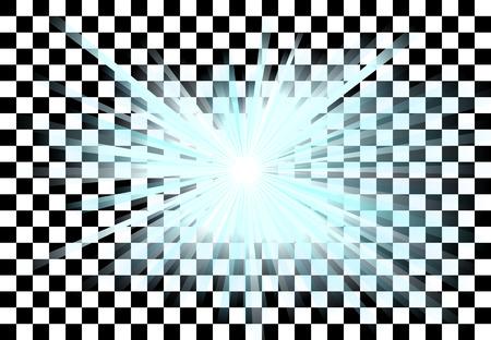 lightrays: Blue light rays in transparent vector Illustration