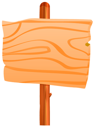 Houten tekenpaal vector icoon