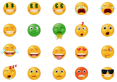 Various emoticons vector