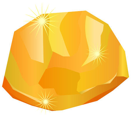 Single gold nugget or stone vector