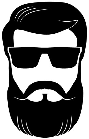 Bearded man wearing shades vector
