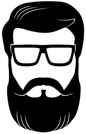 Man wearing eyeglasses with beard vector Ilustrace