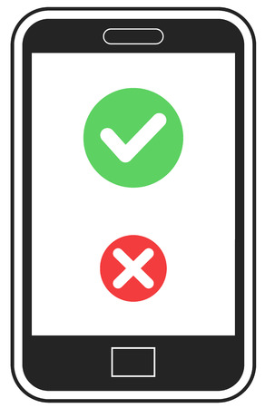 Answer call icon on cell phone vector
