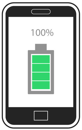 Full charge mobile phone vector