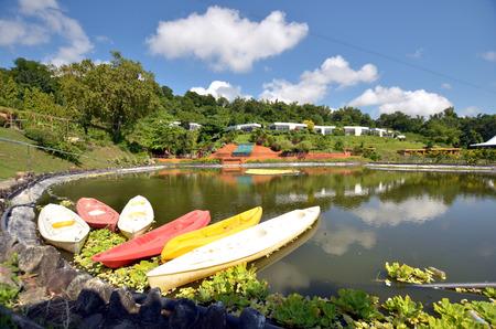 Kayak at the lake photo