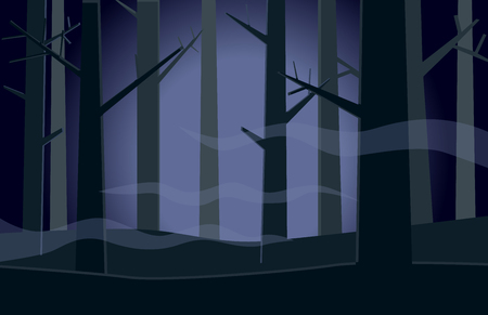 Eerie scary forest vector