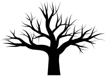 Black dead tree vector icon Vektorové ilustrace