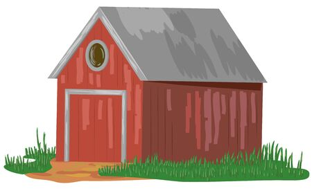 Barn, shed or cabin vector icon