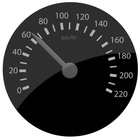 Speed counter vector icon Illustration