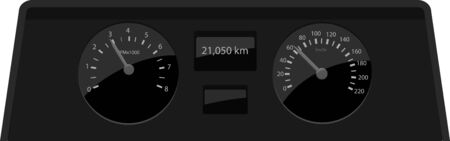 RPM and speed meter vector icon