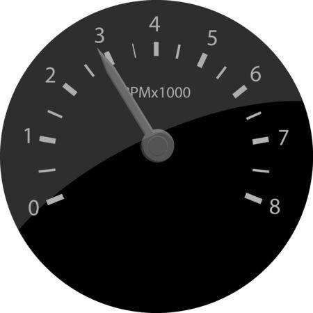 RPM counter vector icon