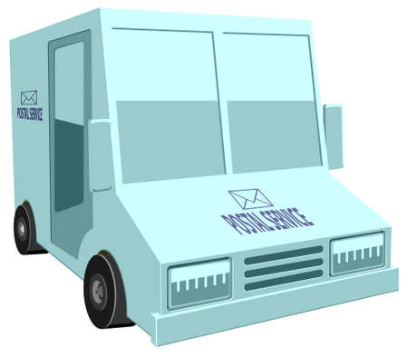 Mail delivery truck vector icon
