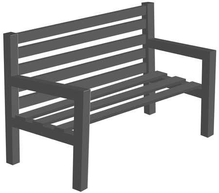 Empty bench vector icon
