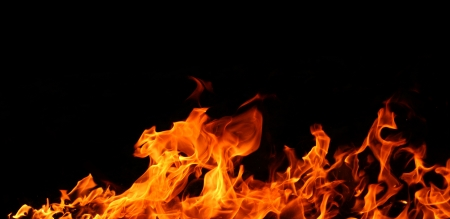 Fire flames isolated photo