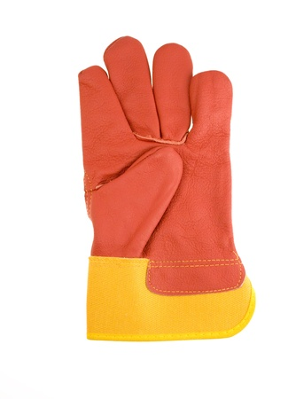 Red protective gloves.  photo
