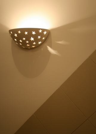 wall sconce: Wall lamp( sconce) in a modern room