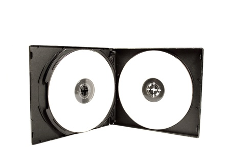 dvd case: CD DVD case with white cds