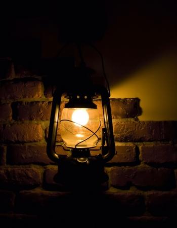 scintillating: Old fashioned lantern Stock Photo