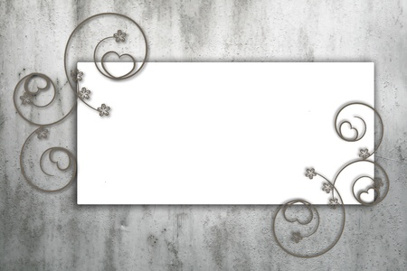 ornamente: Abstract grunge frame with cool vintage