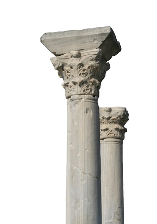 Isolated ancient columns photo