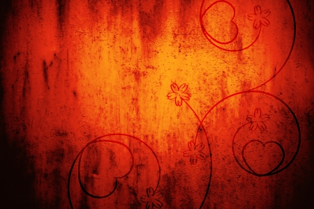 ornamente: Grunge red background with cool vintage