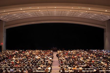 audiences: Large crowd at a seminar Stock Photo