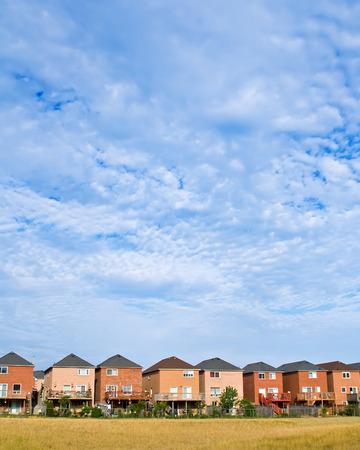 suburban: Suburban houses with large sky area