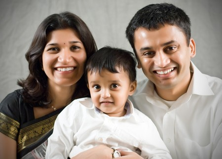 ethnicity: Happy family portrait- Indian Ethnicity
