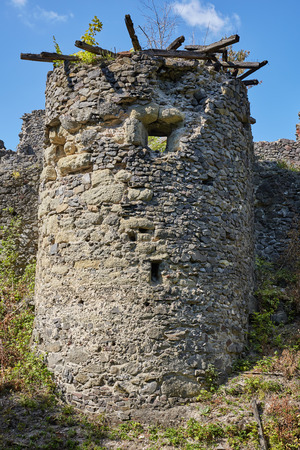 Ruins of the Nevitsky castl. The castle was built in the 13th century.