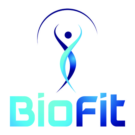 Biofit Logo, Biofit Logo, Medical-Logo, Bio-Technologie Vektor-Logo