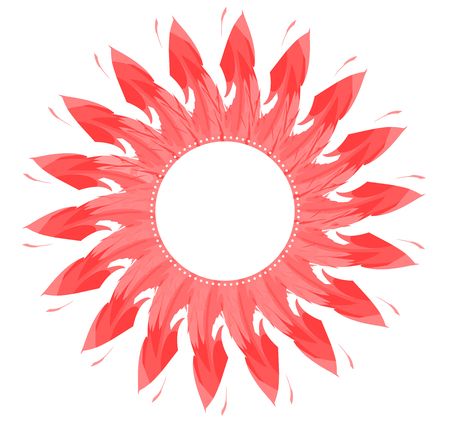 Beautiful sunflower icon, abstract natural flower background 写真素材